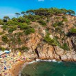 Medieval castle in Tossa de Mar — Stock Photo