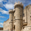 Famous Knights Grand Master Palace (Castello) in the medieval town of Rhodes, Greece — Stock Photo