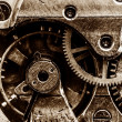 Close up view of vintage clock's gears — Stock Photo #40977771
