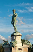 Statue of David in late evening — Stock Photo