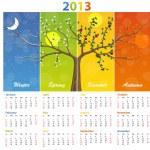 Calendar for 2013 seasons — Stock Vector #34466195