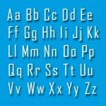 3d font — Stock Vector