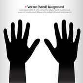 Pair of vector hands background. — Stock Vector