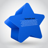 3d vector star with text. blue variant — Stock Vector