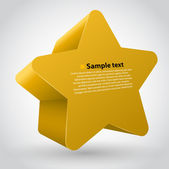 3d vector star with text. Yellow variant — Stock Vector