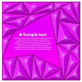 Vector background with triangles. Purple — Stock Vector