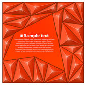 Vector background with triangles. Red — Vector de stock