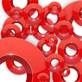Background with red glossy circles — Stockvektor