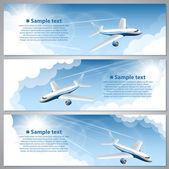 Banner flights — Stock Vector