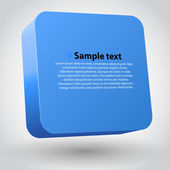 Vector illustration of 3d square. Blue variant — Stock Vector