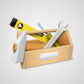 Box with tools. — Stock Vector