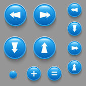 Vector directional buttons blue — Stock Vector