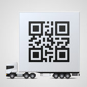 Freight shipping bar code — Vettoriale Stock