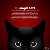 肖像画美しい猫 — ストックベクタ