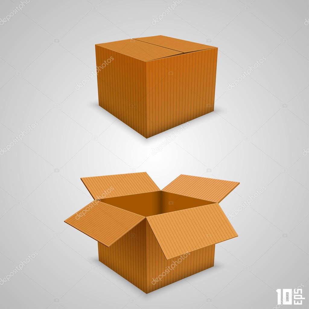 オープンとクローズの紙箱 — ストックベクター © hobbit_art #34465835