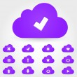 Vector cloud icon — Stock Vector #34607231