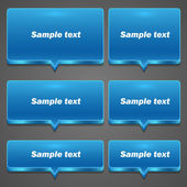 Blue Chat frame all sizes — Wektor stockowy