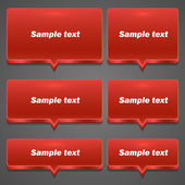 Red Chat frame all sizes — Wektor stockowy