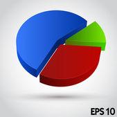 Business Info Graphic. Diagram — Stock Vector