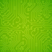 Vector circuit board. Green variant — Stock Vector