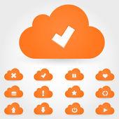 Wektor chmura ikona — Wektor stockowy