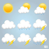 A collection of clouds — Stock Vector