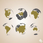 World map vector background — Stock Vector