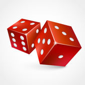 3d game dices — Stock Vector