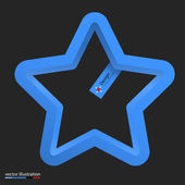 Vector illustration of 3d shapes elements. With label. Star — Stock Vector
