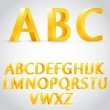 Vector 3d golden alphabet — Stock Vector #34817329