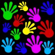 Handprints background — Image vectorielle