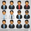 Vector icon collection of men — Stock Vector