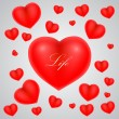 Heart on background — Imagen vectorial
