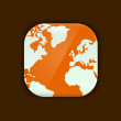 World map vector icon — Image vectorielle