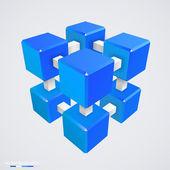 3d küp vektör çizim. — Stok Vektör