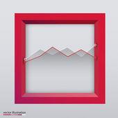 Graph in box. Vector illustration. Modern — Stock Vector