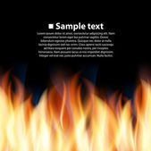 Seamless background with flame — Stock Vector