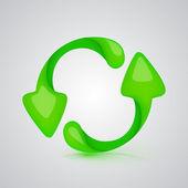 Vector icono actualizar verde — Vector de stock