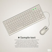 Keyboard and mouse — Stock Vector