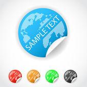 Modern World Wide Label — Stock Vector