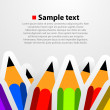 Vector pencil background — Stock Vector