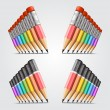 Number of pencils — Stock Vector