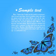 Vector colorful background with butterfly — ベクター素材ストック