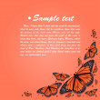 Vector colorful background with butterfly — Imagens vectoriais em stock