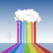 Rainbow — Stock Vector