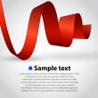 Abstract ribbon vector background. — Grafika wektorowa