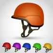 Color set of vector helmets — Stock Vector #34878527