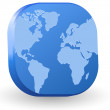 World map vector icon — Stockvectorbeeld
