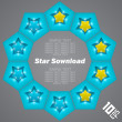 Star Download — Imagen vectorial