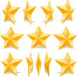 Yellow Stars — Image vectorielle